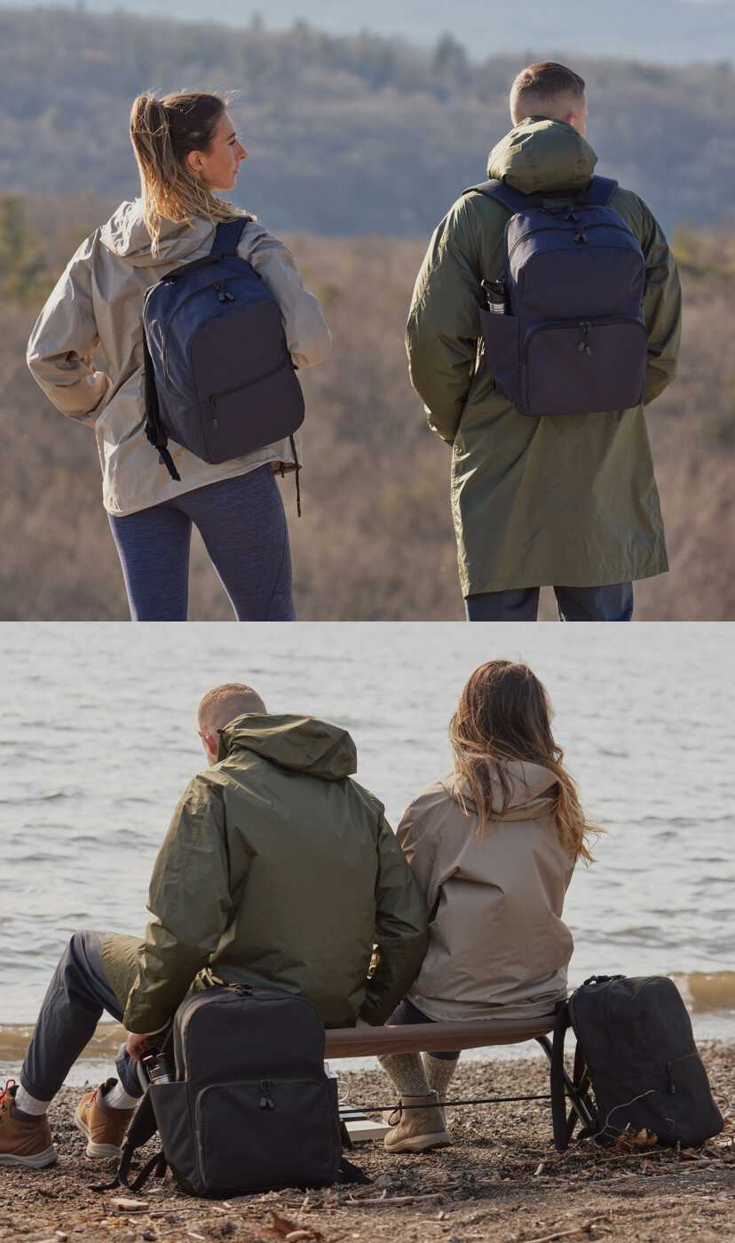 man and woman outdoors with Hanover 2
