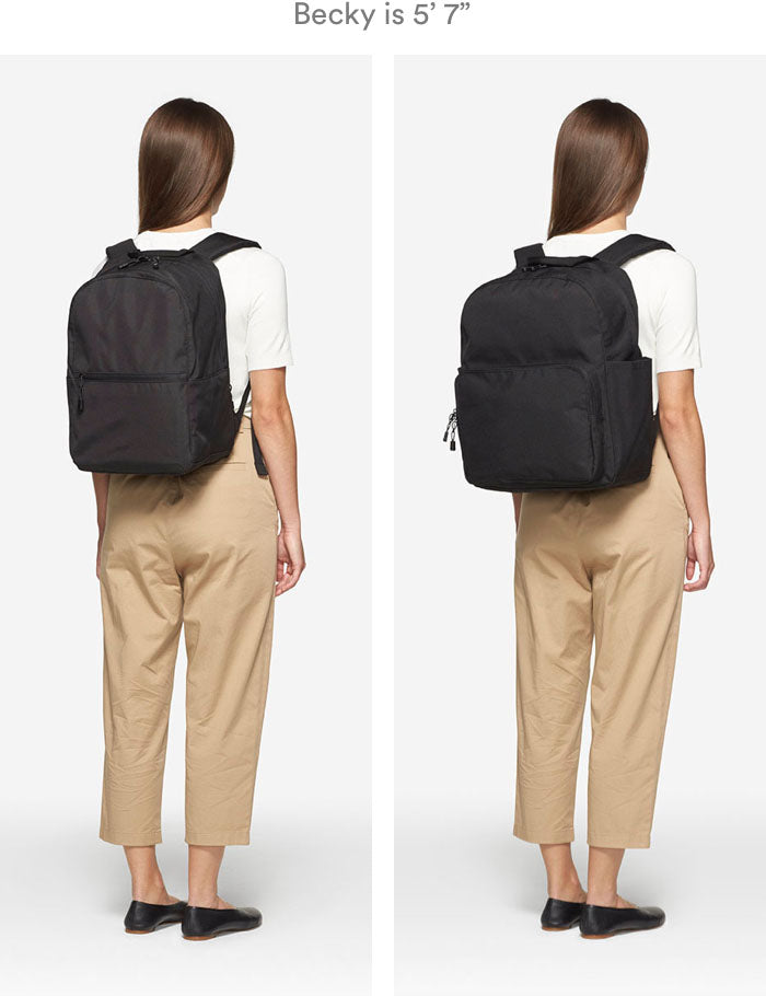 woman wearing Hanover 2 and Hanover Deluxe 2 backpacks