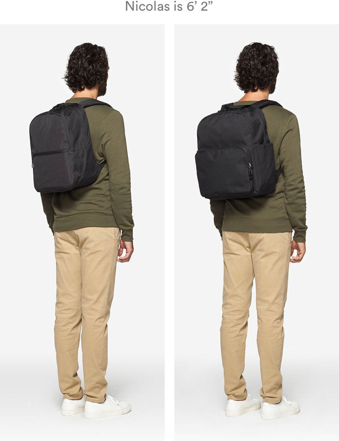 man wearing Hanover 2 and Hanover Deluxe 2 backpacks
