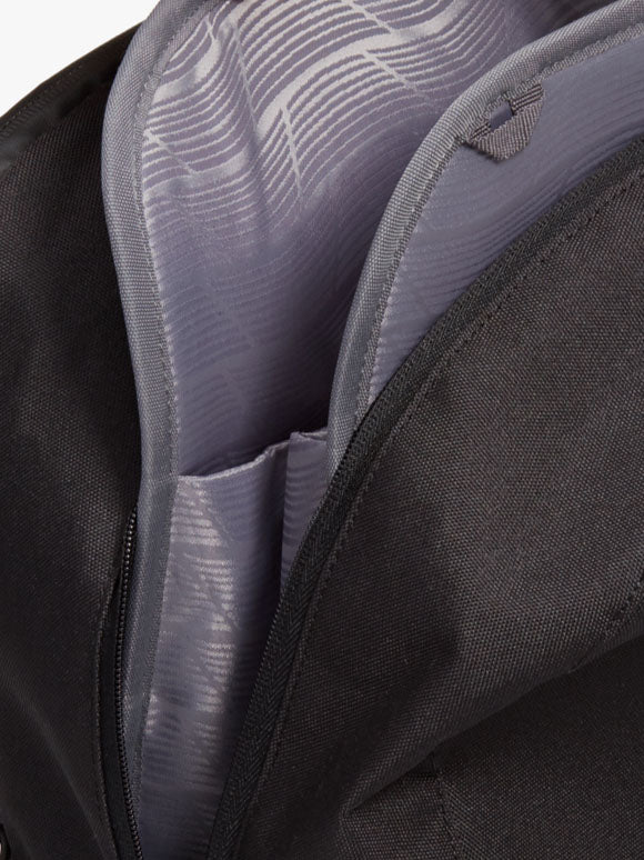 close up of bag inner lining