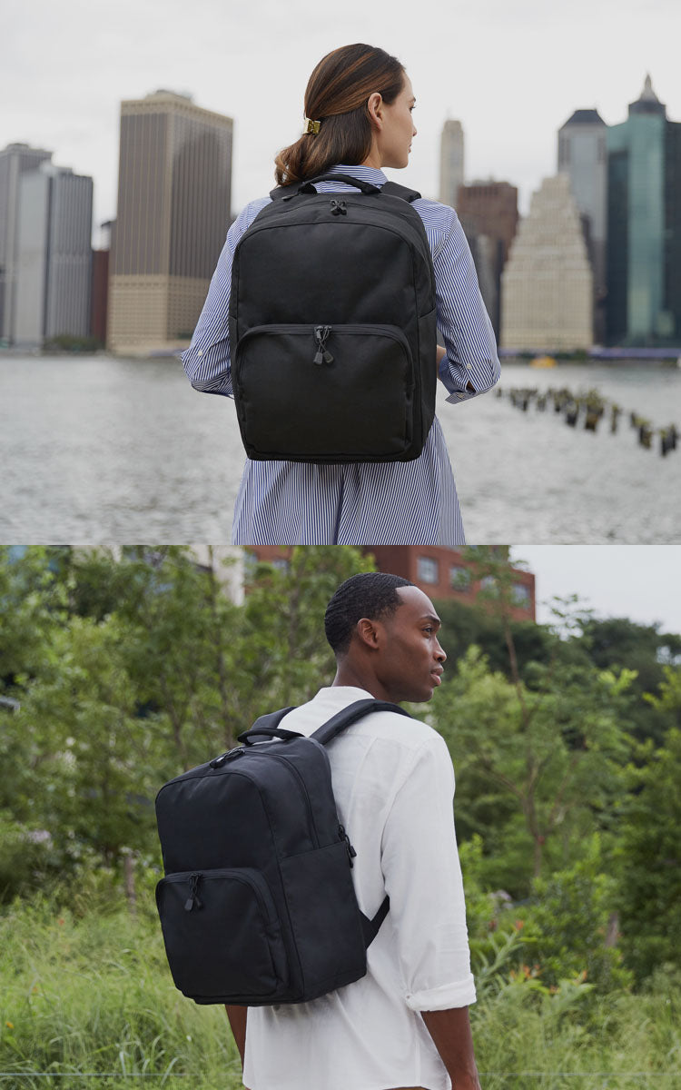 two people with hanover backpacks