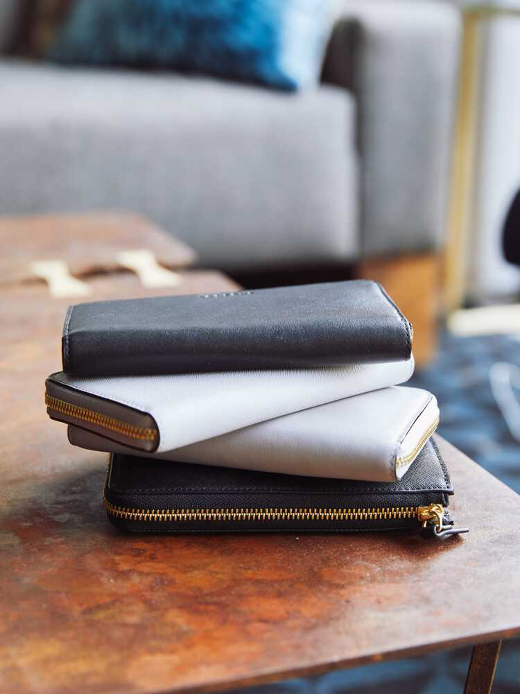 stack of Leather Wallets