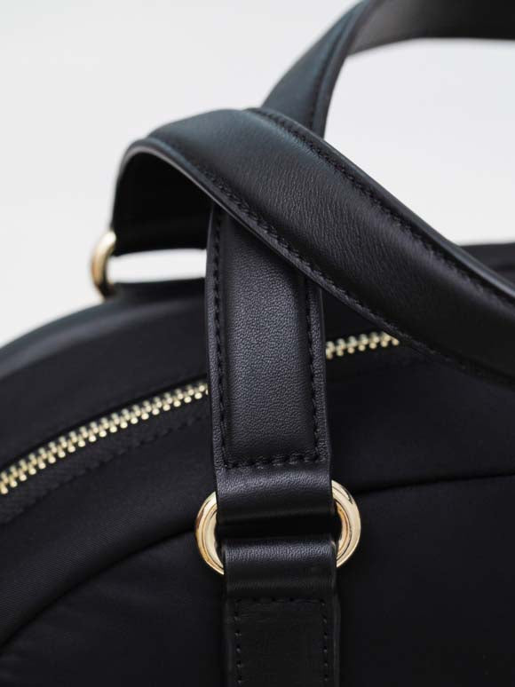 close up of nappa leather accents