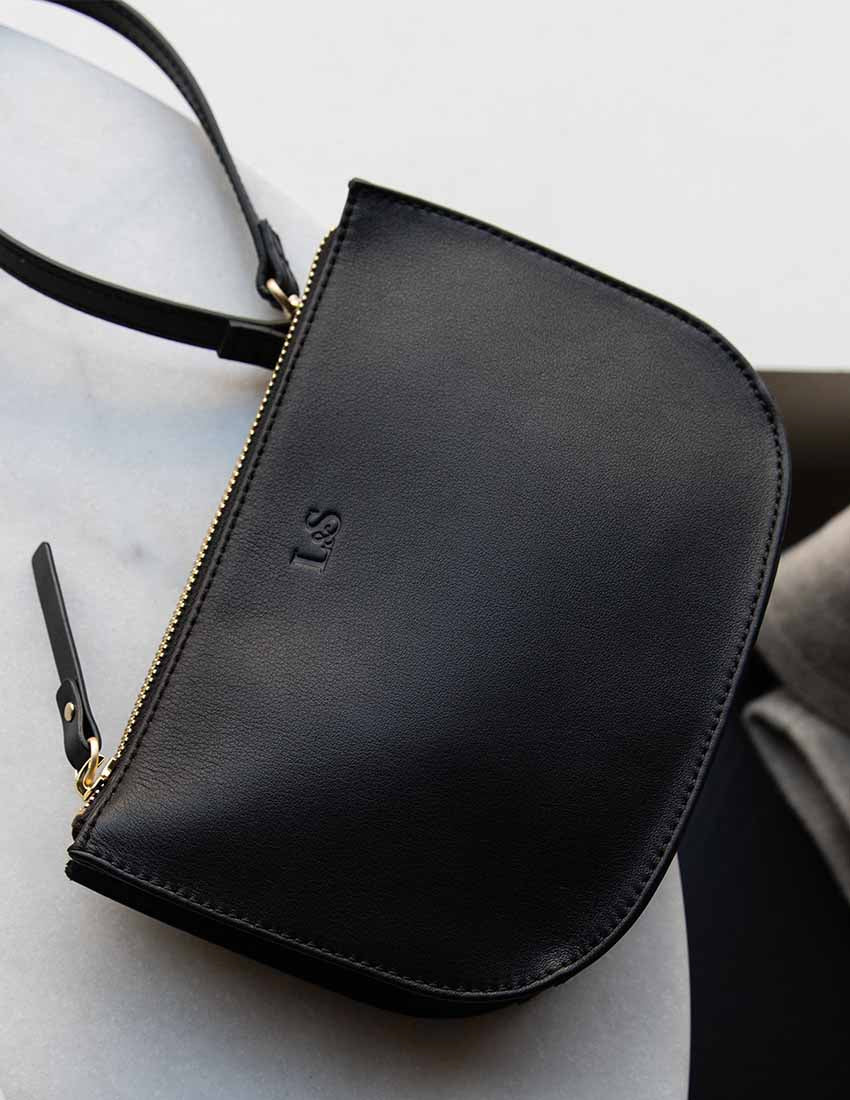 Discover the Waverly, a stylish travel crossbody bag made from premium nappa leather