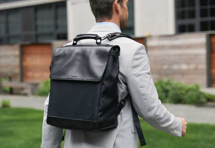 man wearing Prospect with both straps