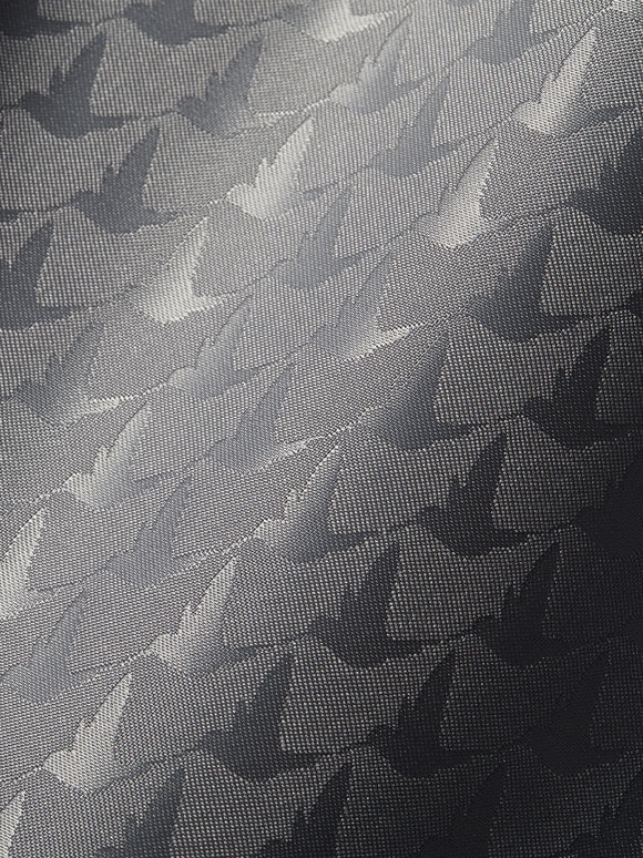 close up of jacquard lining