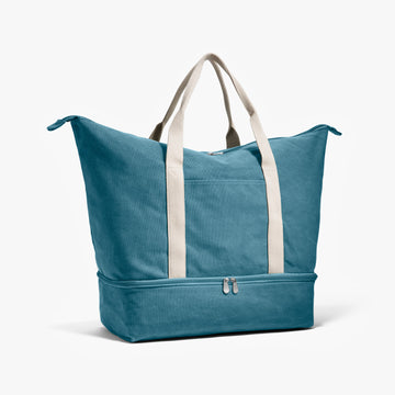 Side - The Catalina - Washed Canvas - Teal Blue - Weekender - Lo & Sons