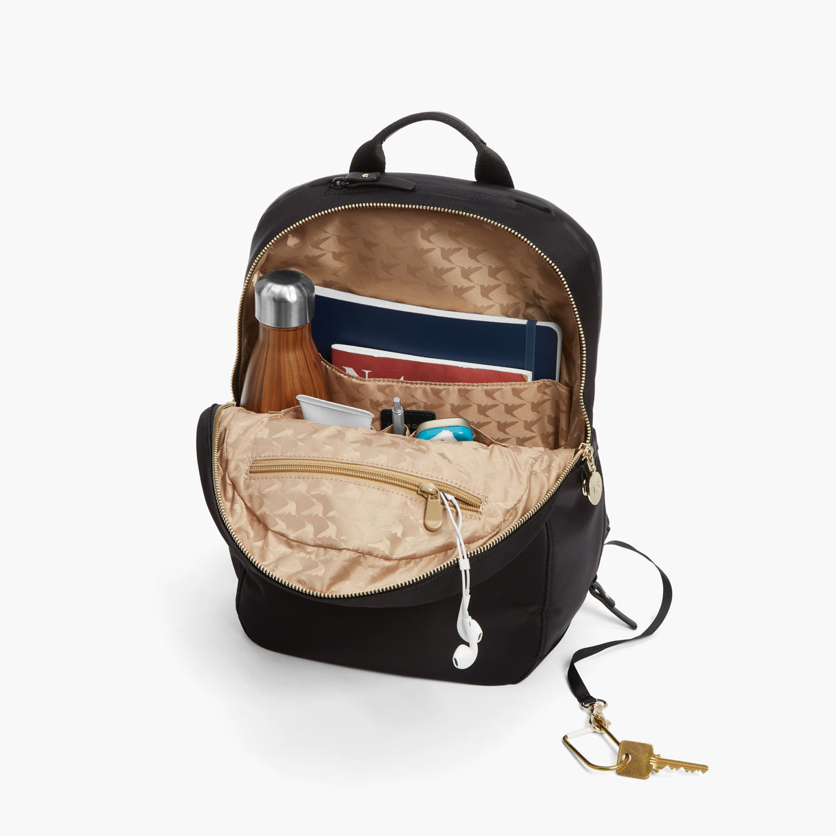 All The Details - Beacon - Nylon - Black / Gold / Camel - Backpack - Lo & Sons