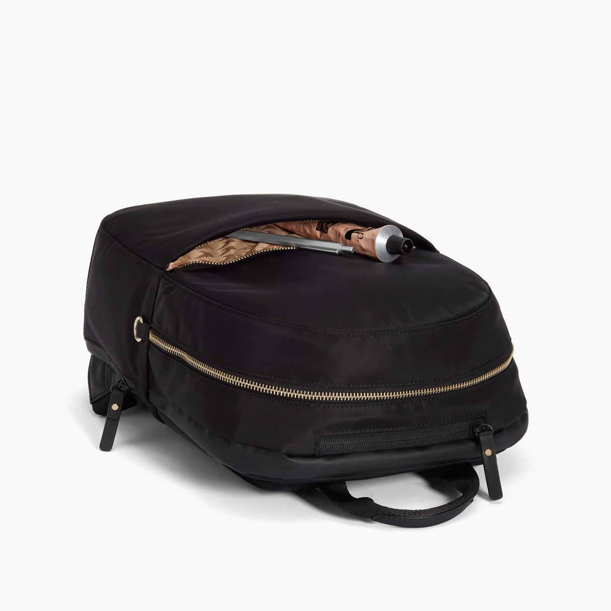 Front Pocket - Beacon - Nylon - Black / Gold / Camel - Backpack - Lo & Sons