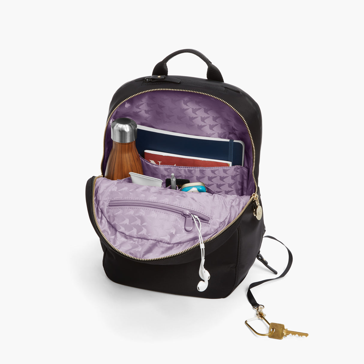 All The Details - Beacon - Nylon - Black / Gold / Lavender - Backpack - Lo & Sons