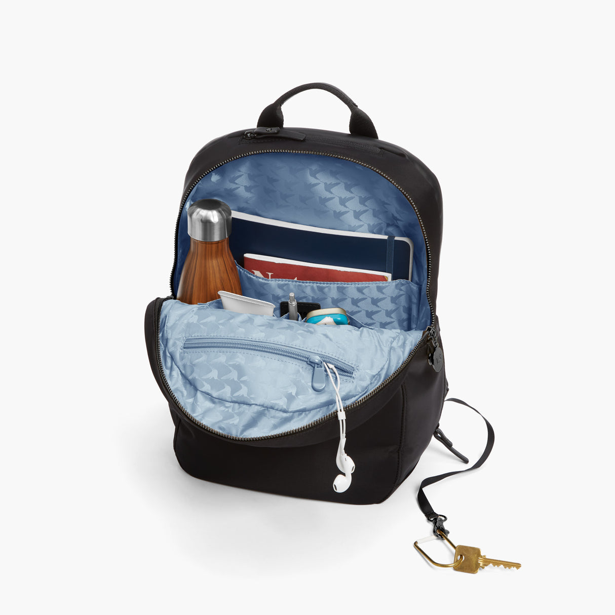 All The Details - Beacon - Nylon - Black / Gunmetal / Azure - Backpack - Lo & Sons
