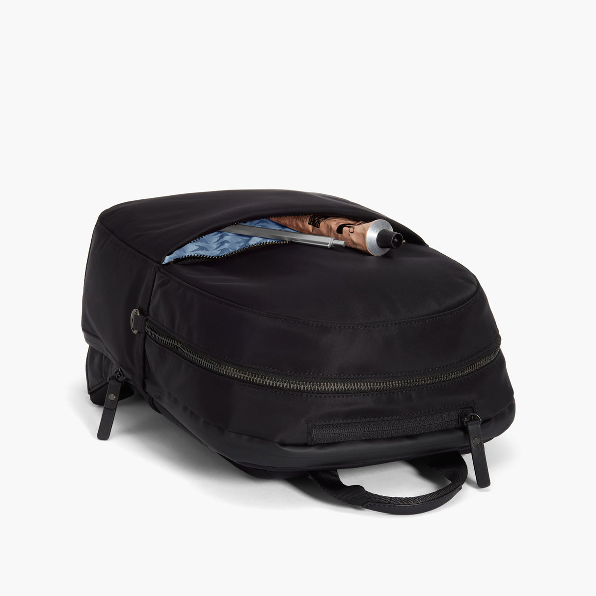 Front Pocket - Beacon - Nylon - Black / Gunmetal / Azure - Backpack - Lo & Sons