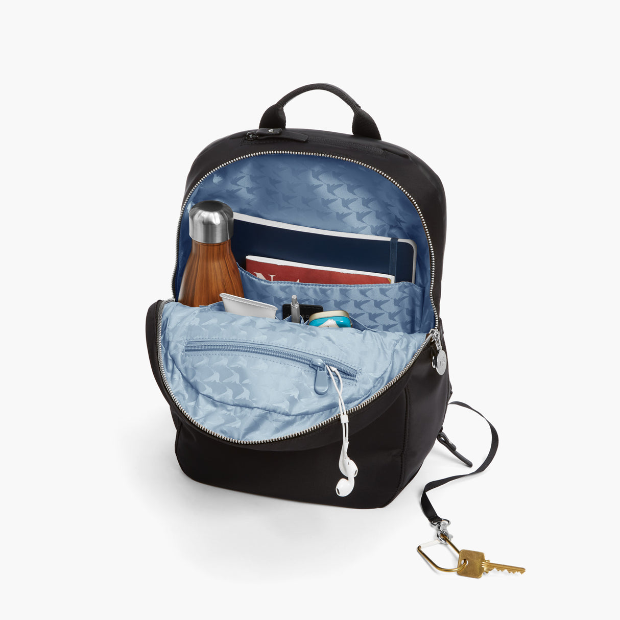 All The Details - Beacon - Nylon - Black / Silver / Azure - Backpack - Lo & Sons