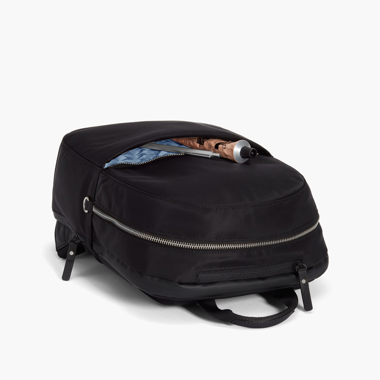 Front Pocket - Beacon - Nylon - Black / Silver / Azure - Backpack - Lo & Sons