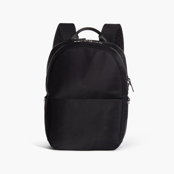 Front - Beacon - Nylon - Black / Silver / Azure - Backpack - Lo & Sons