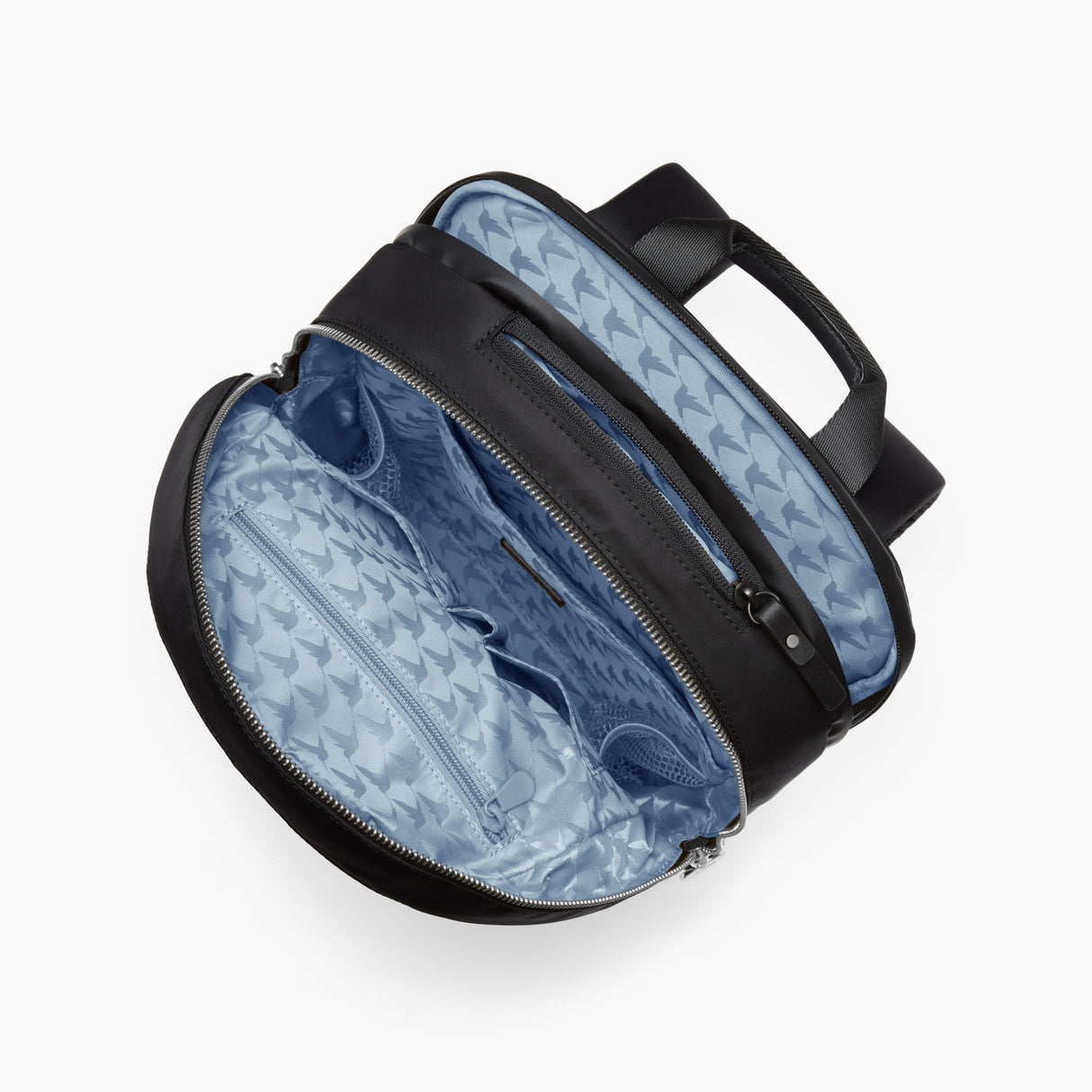 Interior Empty Top View - Beacon - Nylon - Black / Silver / Azure - Backpack - Lo & Sons