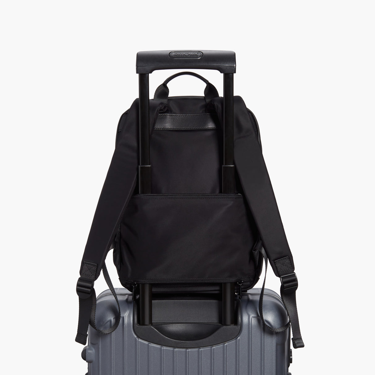 Luggage - Beacon - Nylon - Black / Silver / Azure - Backpack - Lo & Sons
