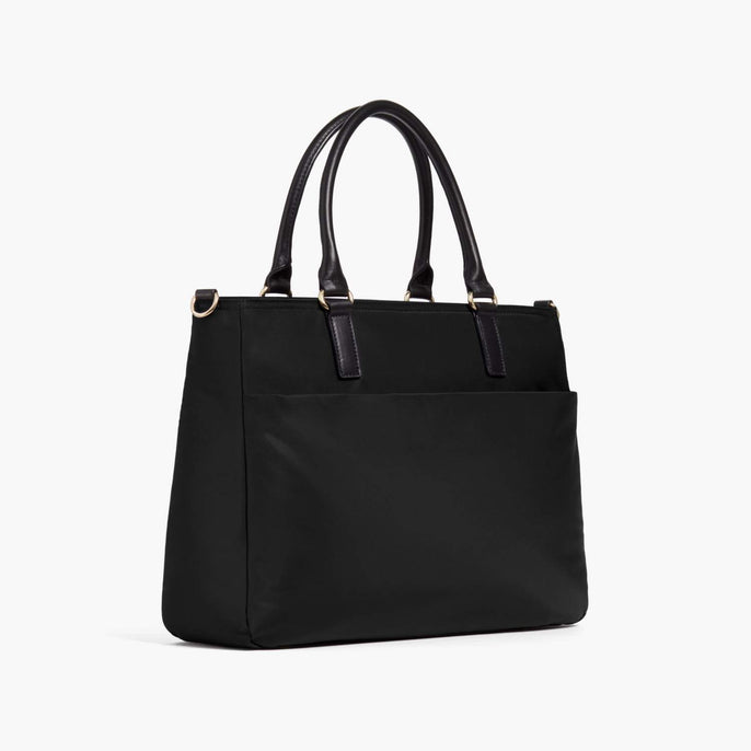 Side - Brookline - Nylon - Black / Gold / Grey - Tote - Lo & Sons