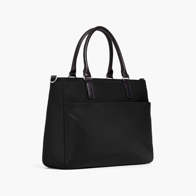 Side - Brookline - Nylon - Black / Silver / Lavender - Tote - Lo & Sons