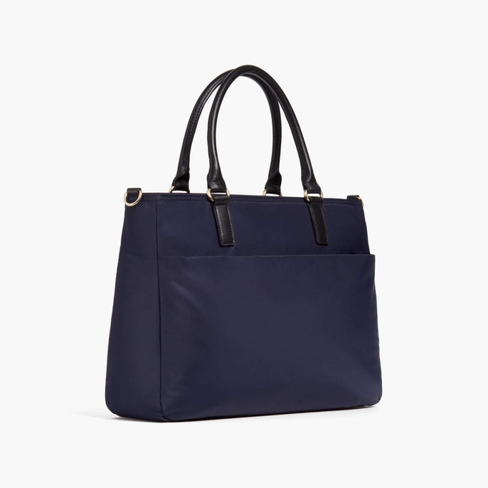 Side - Brookline - Nylon - Deep Navy / Gold / Camel - Tote - Lo & Sons