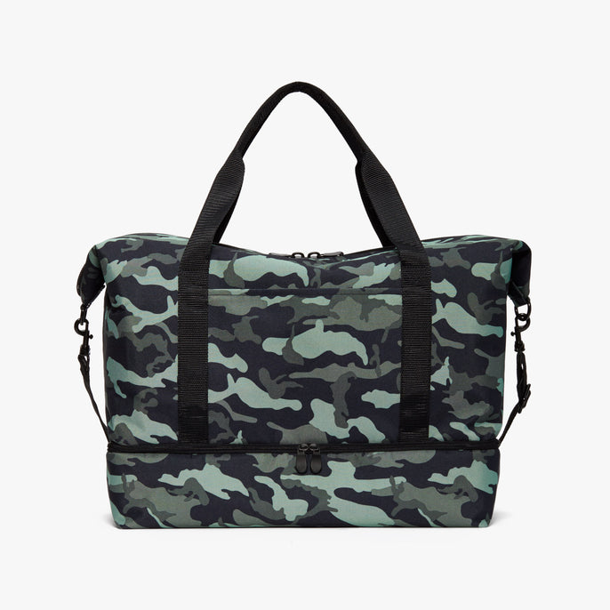 Front - Catalina Deluxe - 600D Recycled Poly - Green Camo - Weekender - Lo & Sons