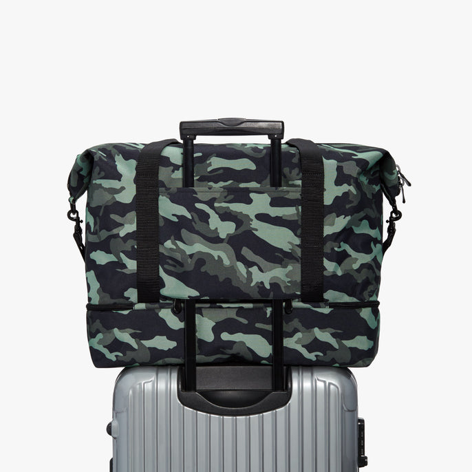 Luggage Sleeve - Catalina Deluxe - 600D Recycled Poly - Green Camo - Weekender - Lo & Sons