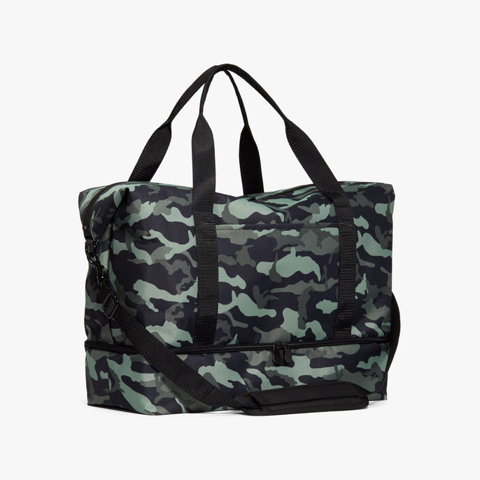 Side - Catalina Deluxe - 600D Recycled Poly - Green Camo - Weekender - Lo & Sons