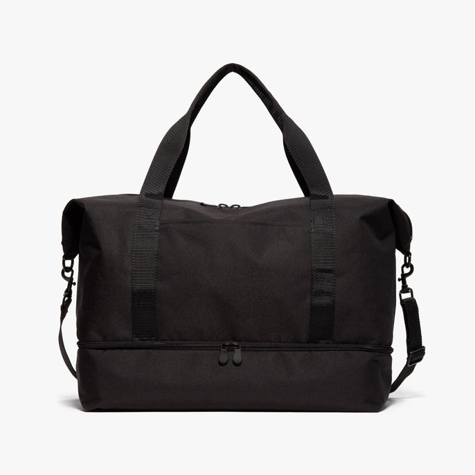 Front - Catalina Deluxe - 600D Recycled Poly - Onyx / Black / Dark Grey - Weekender - Lo & Sons