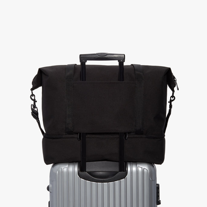Luggage - Catalina Deluxe - 600D Recycled Poly - Onyx / Black / Dark Grey - Weekender - Lo & Sons