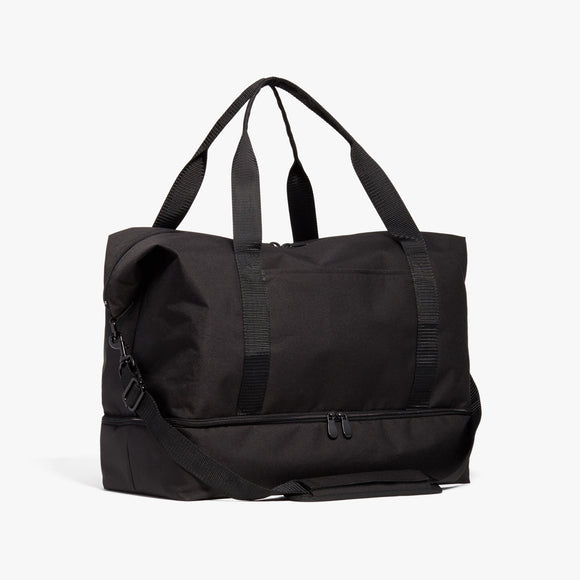 Side - Catalina Deluxe - 600D Recycled Poly - Onyx / Black / Dark Grey - Weekender - Lo & Sons