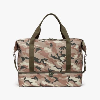 Front - Catalina Deluxe - 600D Recycled Poly - Tan Camo - Weekender - Lo & Sons