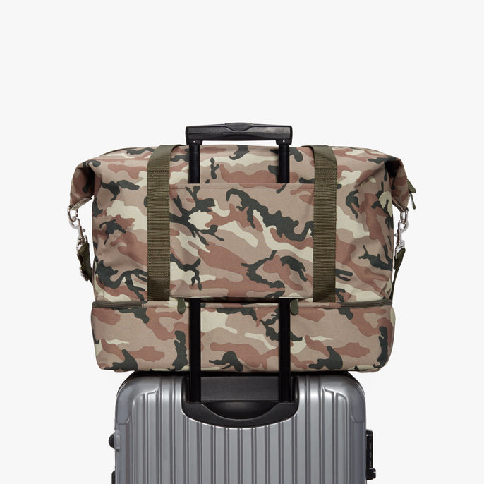 Luggage Sleeve - Catalina Deluxe - 600D Recycled Poly - Tan Camo - Weekender - Lo & Sons