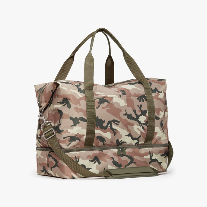 Side - Catalina Deluxe - 600D Recycled Poly - Tan Camo - Weekender - Lo & Sons