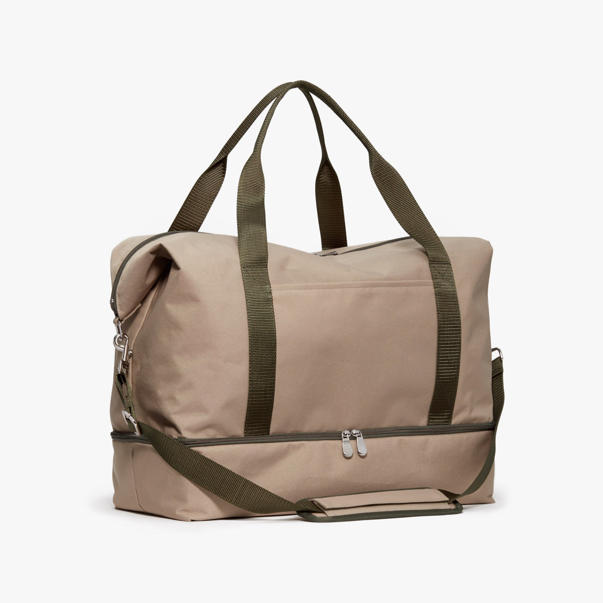 Side - Catalina Deluxe - 600D Recycled Poly - Tan / Silver / Green - Weekender - Lo & Sons