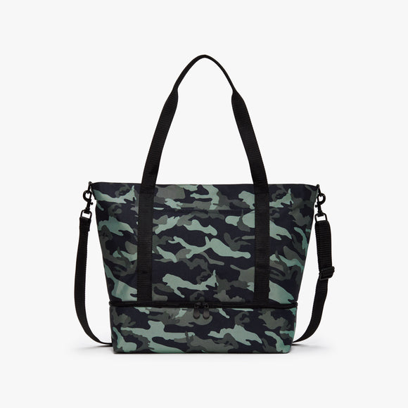 Front - Catalina Deluxe Tote - 600D Recycled Poly - Green Camo - Tote - Lo & Sons