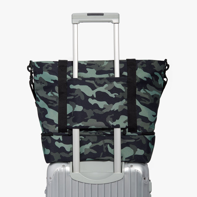 Luggage - Catalina Deluxe Tote - 600D Recycled Poly - Green Camo - Tote - Lo & Sons