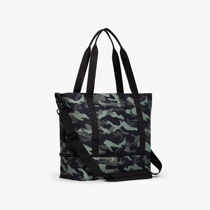Side - Catalina Deluxe Tote - 600D Recycled Poly - Green Camo - Tote - Lo & Sons