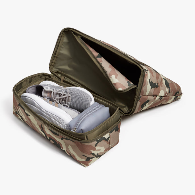 Bottom Pocket - Catalina Deluxe Tote - 600D Recycled Poly - Tan Camo - Tote - Lo & Sons