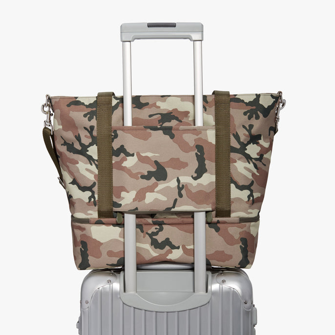 Luggage - Catalina Deluxe Tote - 600D Recycled Poly - Tan Camo - Tote - Lo & Sons