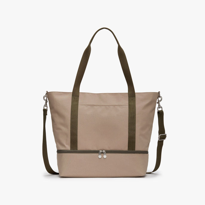 Front - Catalina Deluxe Tote - 600D Recycled Poly - Tan - Tote - Lo & Sons