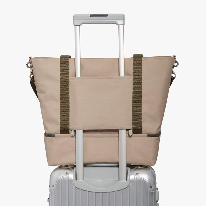 Luggage - Catalina Deluxe Tote - 600D Recycled Poly - Tan - Tote - Lo & Sons