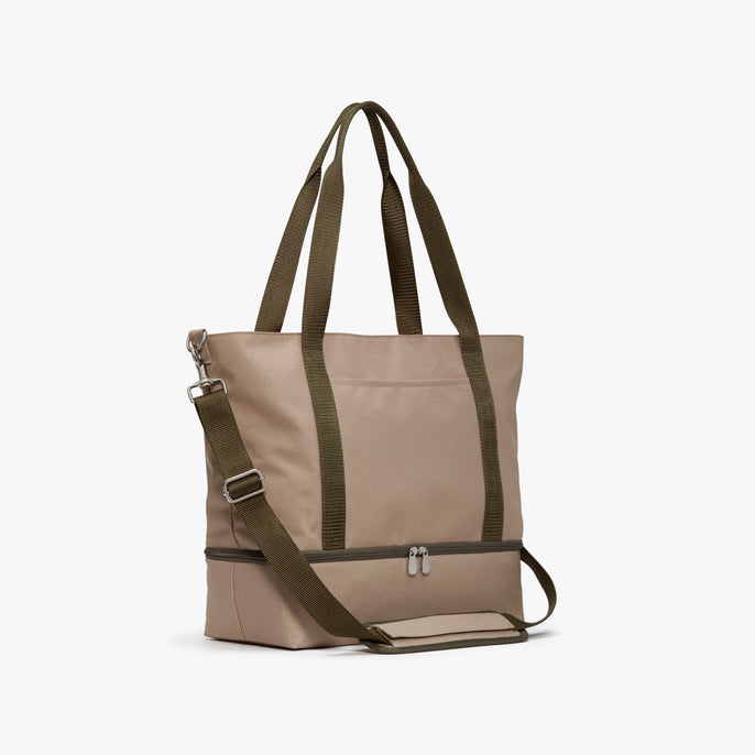 Side - Catalina Deluxe Tote - 600D Recycled Poly - Tan - Tote - Lo & Sons