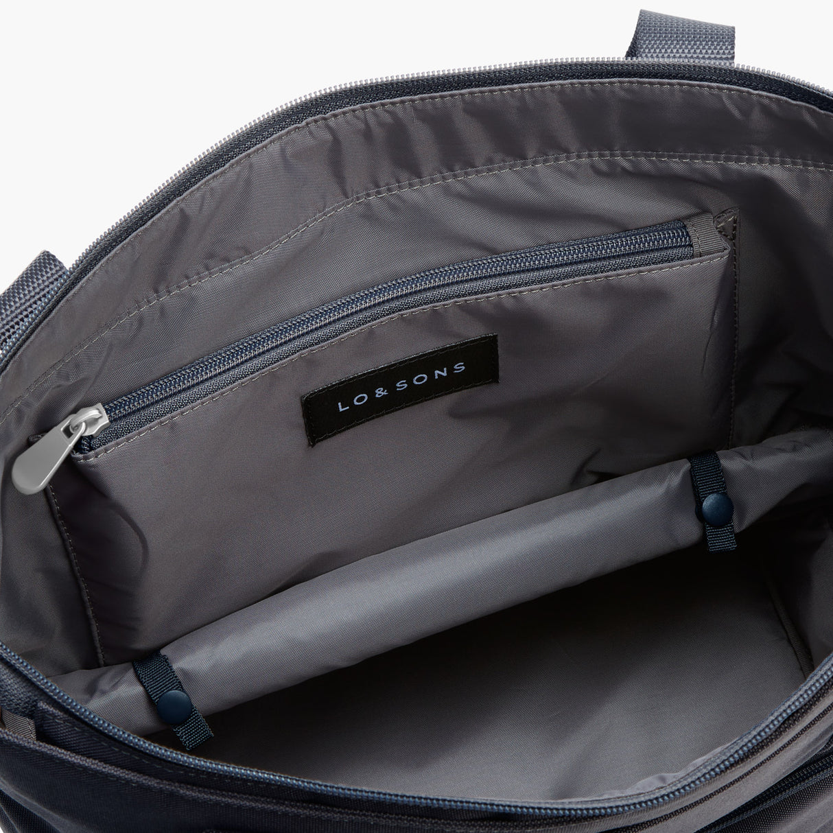 Bottom Pocket Expandable - Catalina Day Tote - 600D Recycled Poly - Deep Navy - Tote - Lo & Sons