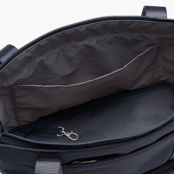 Interior Zipper Pocket - Catalina Day Tote - 600D Recycled Poly - Deep Navy - Tote - Lo & Sons