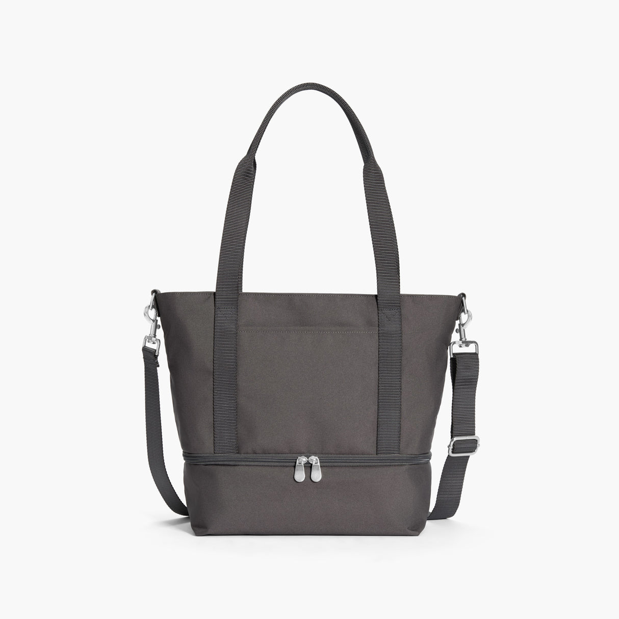 Front - Catalina Day Tote - 600D Recycled Poly - Grey - Tote - Lo & Sons