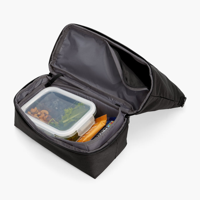 Bottom Pocket Propped Snacks - Catalina Day Tote - 600D Recycled Poly - Onyx - Tote - Lo & Sons