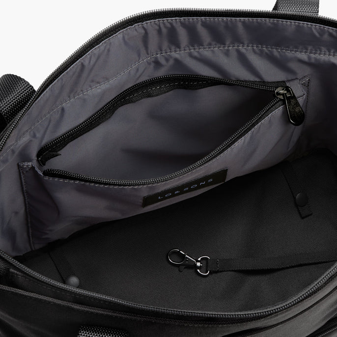 Interior Slip Pockets - Catalina Day Tote - 600D Recycled Poly - Onyx - Tote - Lo & Sons