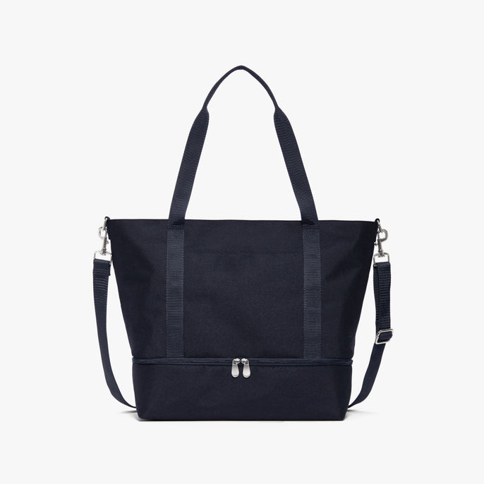Front - Catalina Deluxe Tote - 600D Recycled Poly - Deep Navy - Tote - Lo & Sons