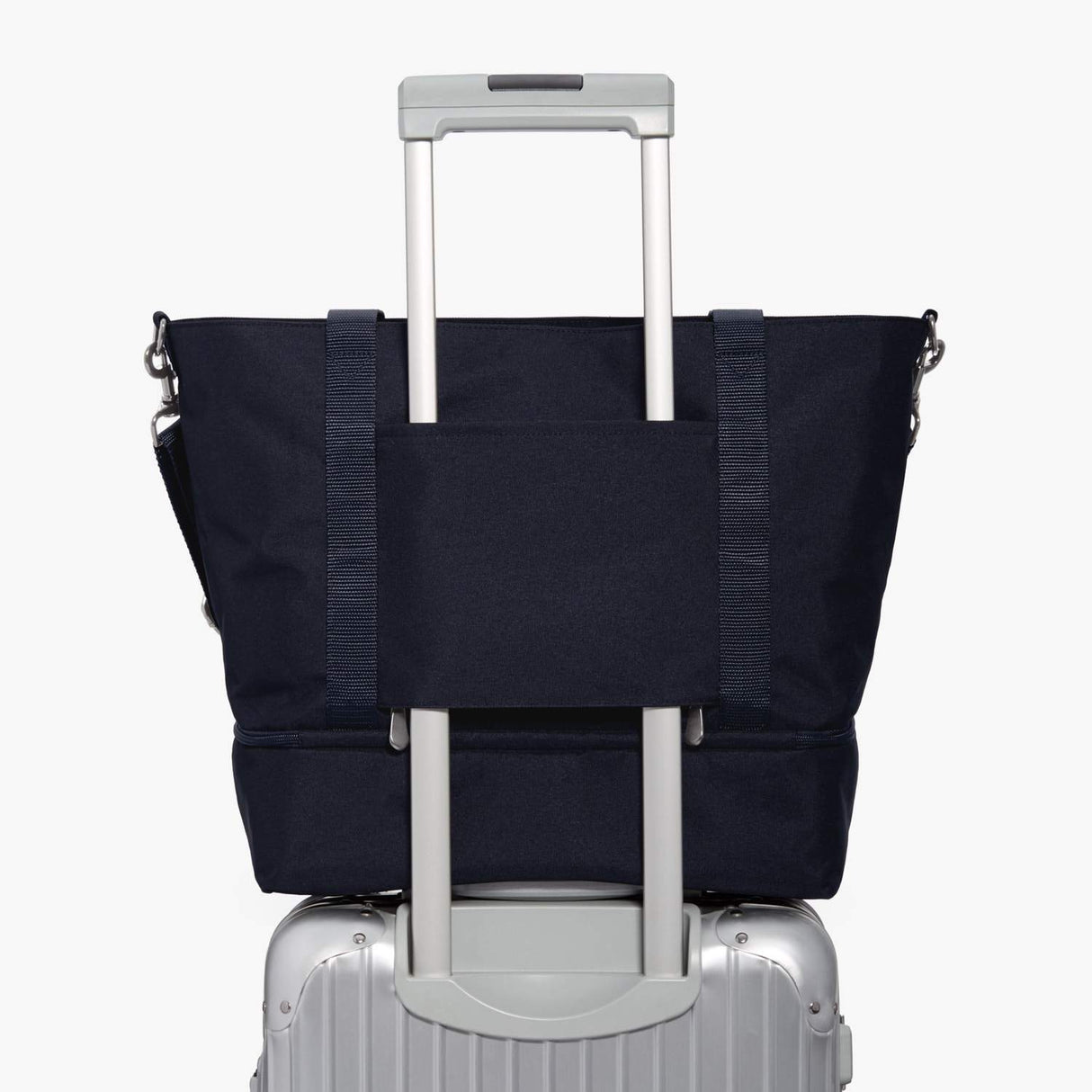 Luggage Sleeve - Catalina Deluxe Tote - 600D Recycled Poly - Deep Navy - Tote - Lo & Sons