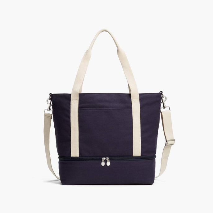 Front - Catalina Deluxe Tote - Organic Canvas - Deep Navy - Tote - Lo & Sons